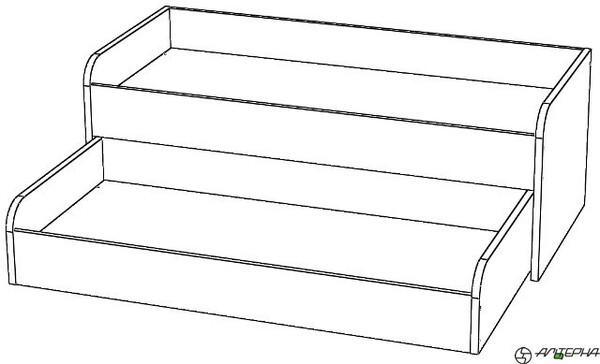 Кровать детская 2-х ярусная, раздвижная КД-2.16