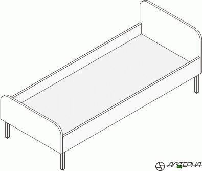 Кровать детская на металлокаркасе КДм-14