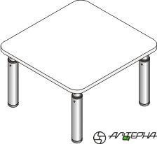 Стол регулируемый по высоте со столешницей из ЛДСП СДР-6.3