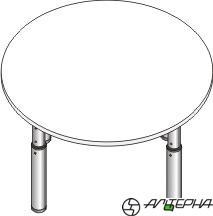 Стол регулируемый по высоте со столешницей из ЛДСП СДР-8