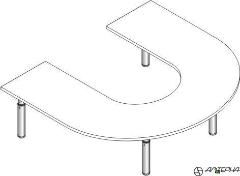 Стол регулируемый по высоте со столешницей из ЛДСП СДРф-15