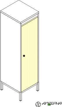 Шкаф для детской одежды на металлокаркасе ШДм-1