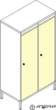 Шкаф для детской одежды на металлокаркасе ШДм-2
