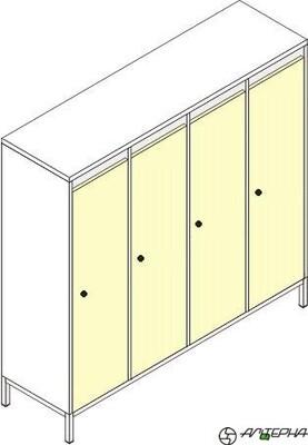 Шкаф для детской одежды на металлокаркасе ШДм-4