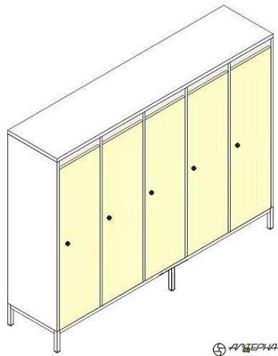 Шкаф для детской одежды на металлокаркасе ШДм-5