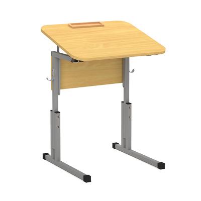 Стол ученический 16 мм 1-о мест. с рег. высоты 3-5 наклона и лотком Лц.КРН 3-5-т25 Лц.С1Д-16/2 лот Лицей