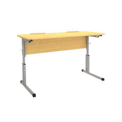 Стол ученический 16 мм 2-х мест. с рег. высоты 5-7 наклона и лотком Лц.КРН 5-7-т25 Лц.С2Д-16/2 лот Лицей