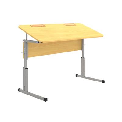 Стол ученический 16 мм 2-х мест. с рег. высоты 3-5 наклона и лотком  Лц.КРН 3-5-т25 Лц.С2Д-16/2 лот Лицей