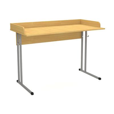 Стол ученический с бортиком нерег. по высоте 5/6 для каб. биологии и физики Лц.СКНБ 5-6 Лицей