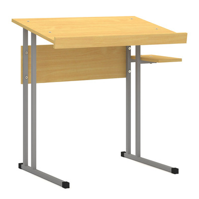 Стол 1-о местн. с наклонной столешницей для черчения Лц.СКНЧ Лицей