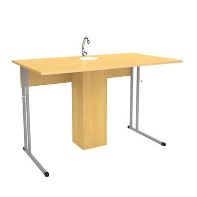 Стол ученический 2-х мест. с раковиной для каб. химии Лц.СКНХ Лицей