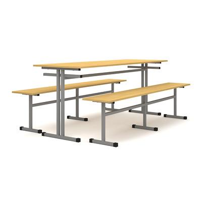 Стол обеденный с 2-я скамьями на 6 человек Лц.СТШС-6 Лц.СКШС-6 Лицей