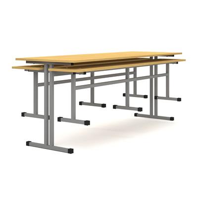Стол обеденный на 6 человек с креплениями для скамьи Лц.СТШС-6 Лицей
