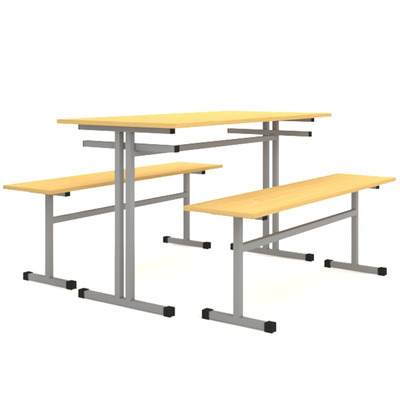 Стол обеденный с 2-я скамьями на 4-х человек Лц.СТШС-4 Лц.СКШС-4 Лицей