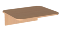 Столешница скр. 16 мм 1-о мест. Лц.С1ДК-16/2 Лицей
