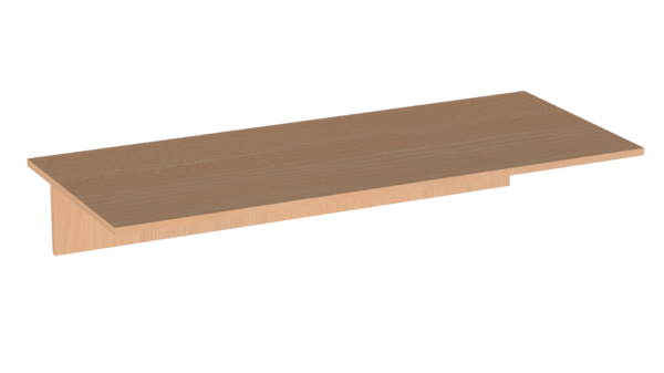 Столешница 16 мм  2-х мест. пластик Лц.С2П-16/2 Лицей