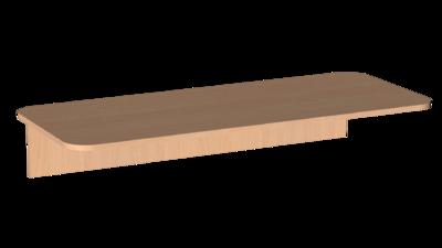 Столешница скр. 16 мм  2-х мест. пластик Лц.С2ПК-16/1 Лицей