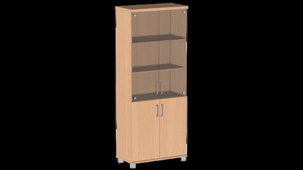 Шкаф для документов со стеклом Пр.Ш-2СТ Премиум