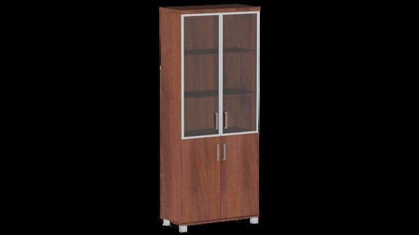 Шкаф для со стеклом в алюм. раме Пр.Ш-2СТА Премиум