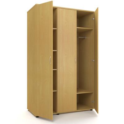 Шкаф для одежды трехстворчатый с полками Р.Ш-9 Проспект
