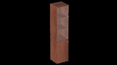 Узкий шкаф со стеклом Р.П-2СТ Референт