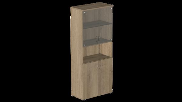 Шкаф высокий с нишей и тонированным стеклом Р.Ш-4СТ Референт