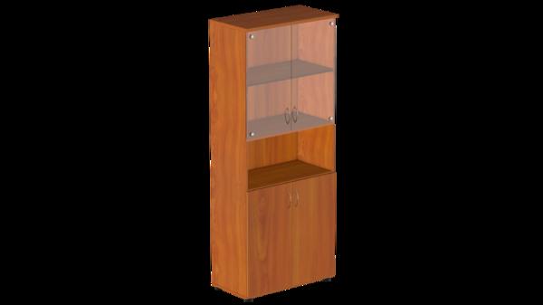 Шкаф высокий с нишей и стеклом Р.Ш-4СБ Референт