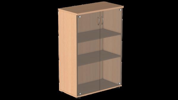 Шкаф для бумаг средний с тонированным стеклом Р.Шс-3СТ Референт