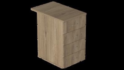 Тумба приставная 4 ящика глубокая с замком Р.Т-4.2 зЦ Референт
