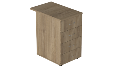 Тумба приставная на 4 ящика глубокая Р.Т-4.2 Референт