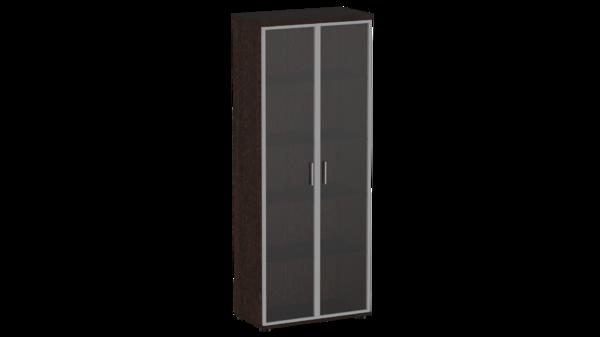 Шкаф со стеклянными дверями в ал. раме С.Ш-3СТА Статус