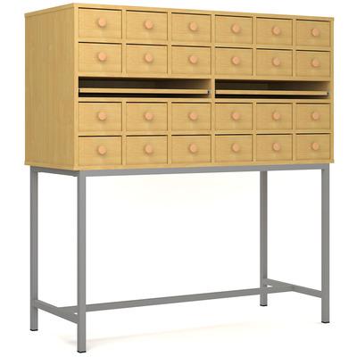 Шкаф картотечный 12 ящиков на металлокаркасе Лц.ШдК-24м Лицей