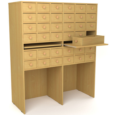 Шкаф картотечный на 36 ящиков Лц.ЩдК-36 Лицей