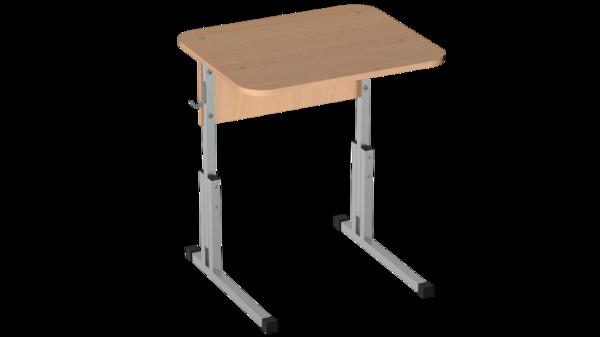 Стол ученический скр. 22 мм 1-о мест. с рег. высоты 2-7 Лц.КР 5-7-т25 Лц.С1ДК-22/2 Лицей